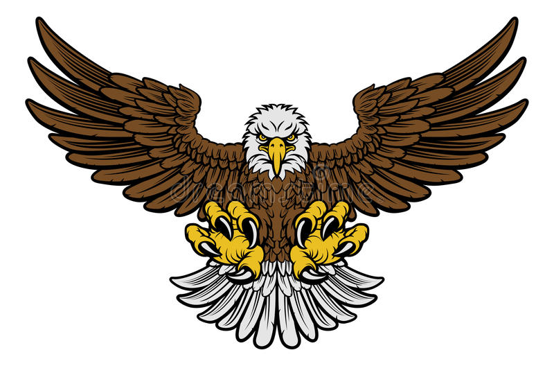 Eagle Mascot calvo ilustración del vector
