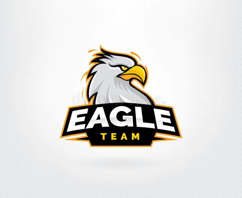 Eagle mascot character logo design vector illustration
