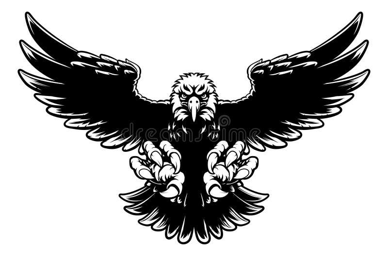 Eagle Mascot feroz ilustração royalty free