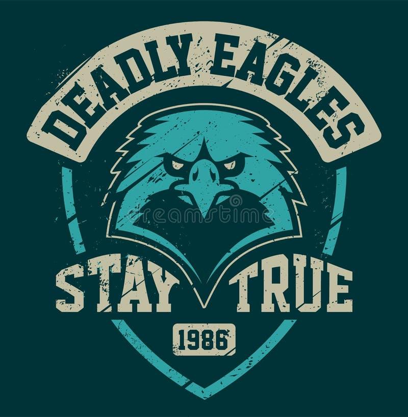 Eagle Mascot Grunge Emblem Template libre illustration