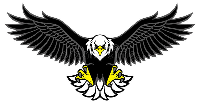 Eagle mascot spread the wings royalty free illustration