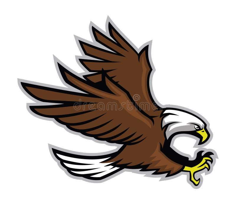 Eagle mascot style royalty free illustration
