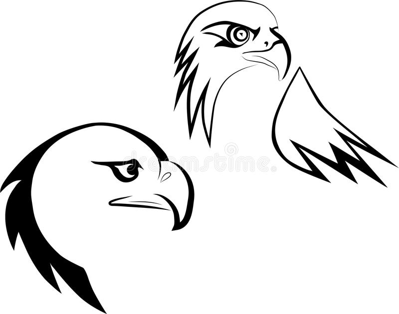 Eagle maskot royaltyfri illustrationer