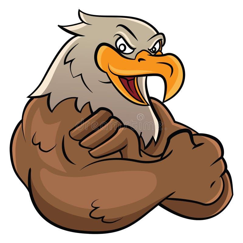 Eagle maskot royaltyfri illustrationer