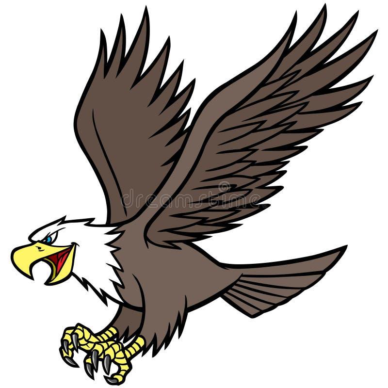 Eagle maskot stock illustrationer