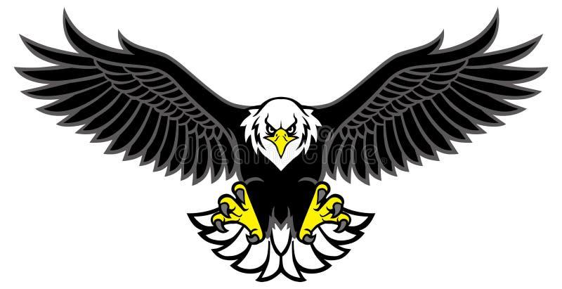Eagle maskotka rozprzestrzenia skrzydła