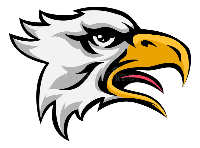 Eagle Mean Animal Mascot royalty free illustration