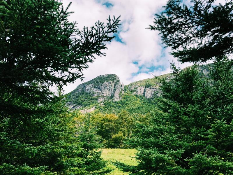Eagle mountain summer view. In the White Mountains of New Hampshire United States royalty free stock photos