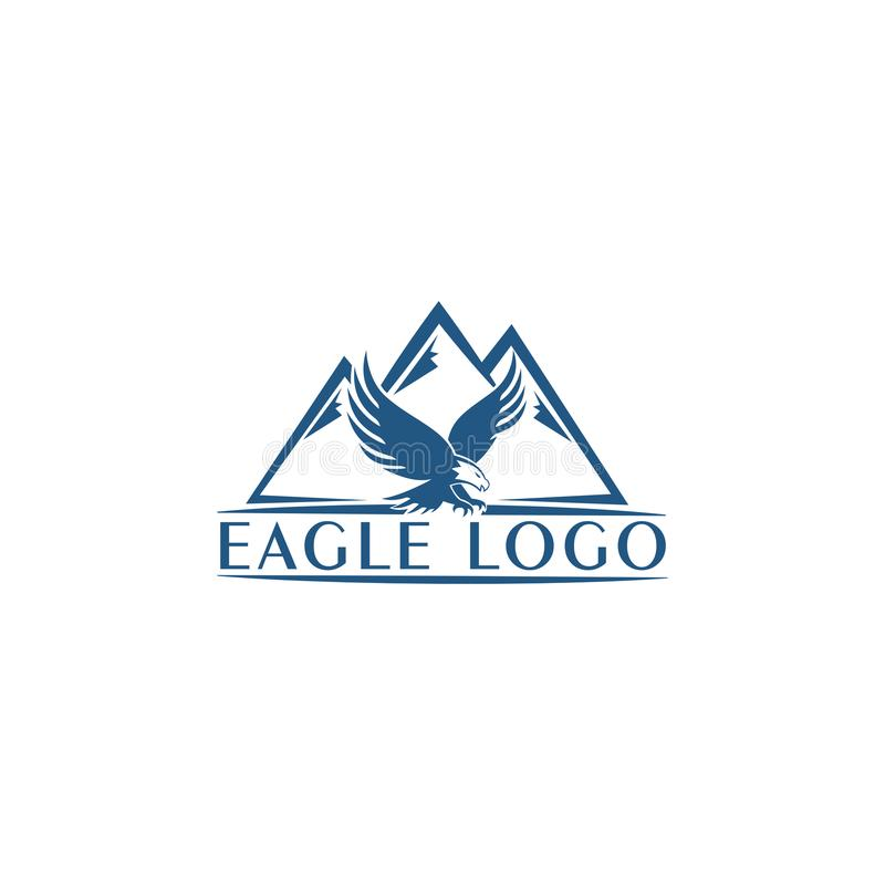 Eagle Mountain Vector logo icon concept illustration. Bird logo. Eagle logo. Abstract logo Design element. Eagle Bird Logo Design. stock illustration