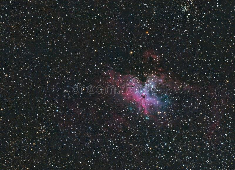 Eagle Nebula 16 più sudici fotografia stock