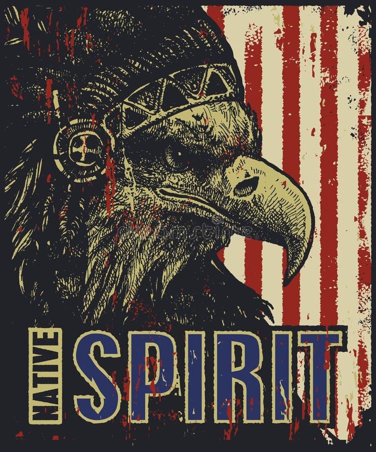 Eagle nel cofano di guerra Illustrazione di vettore illustrazione di stock
