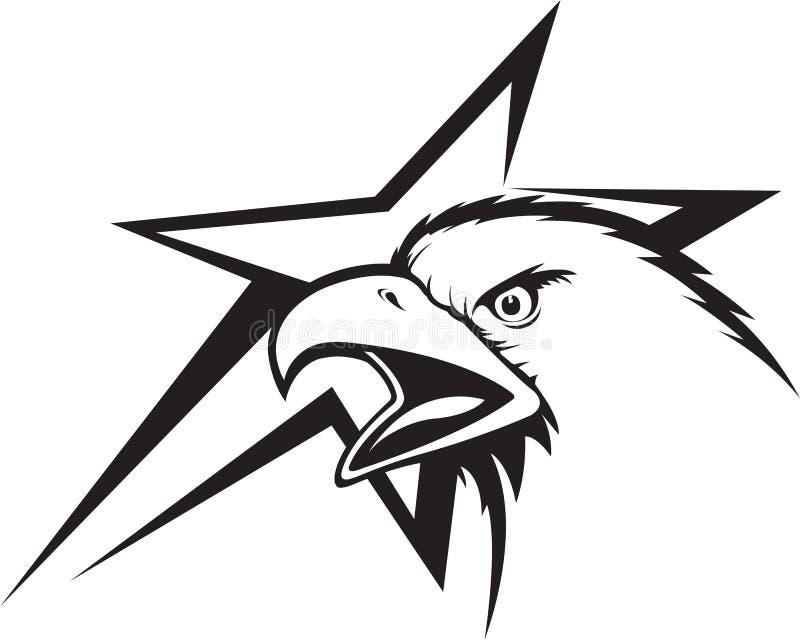 Eagle och stjärna royaltyfri illustrationer
