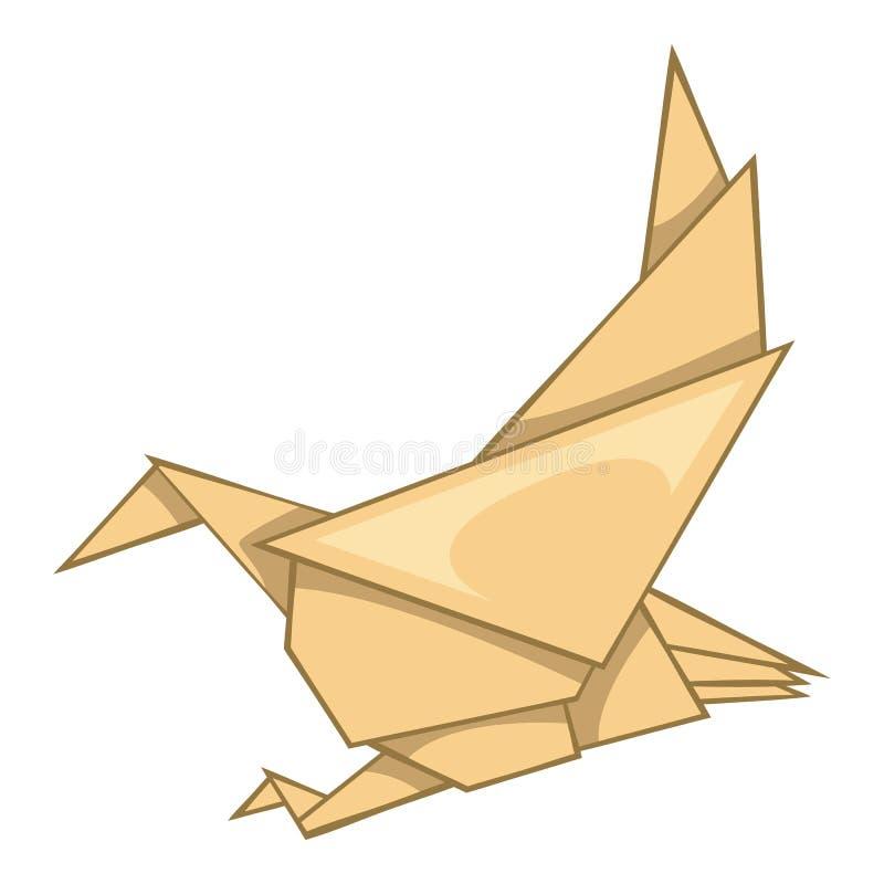 Eagle origami ikona, kreskówka styl ilustracji
