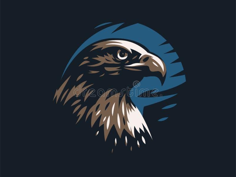 Eagle ou falcão com asas estendidos ilustração do vetor