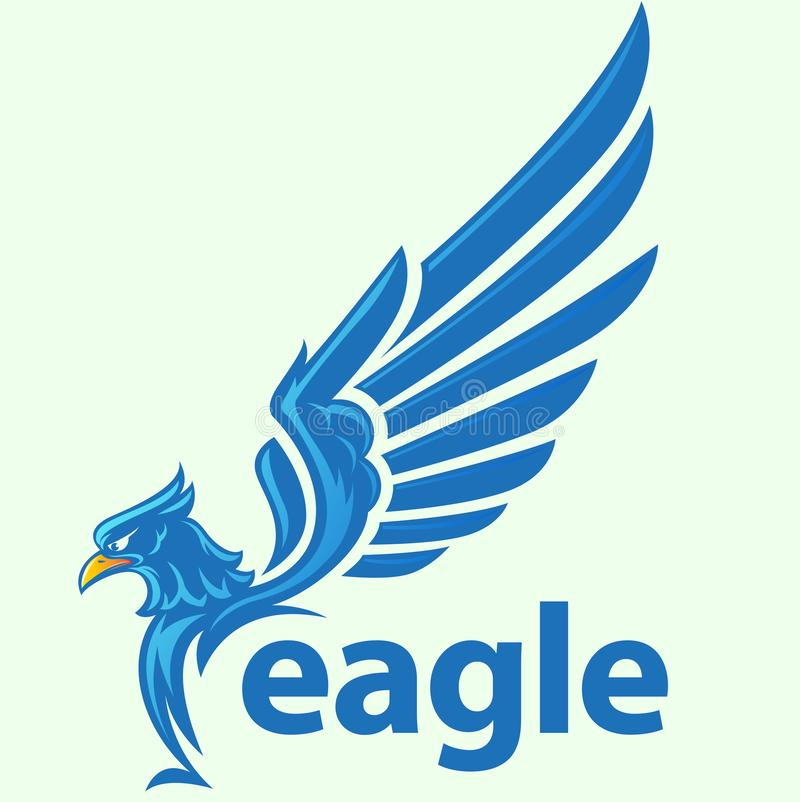 Eagle ou vol de faucon illustration stock
