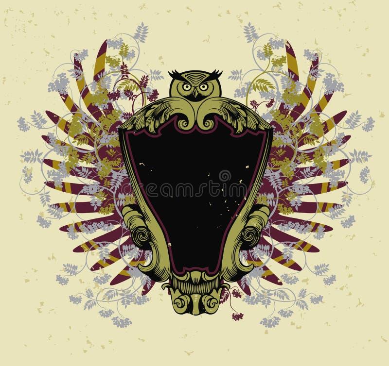 Eagle owl stock illustration