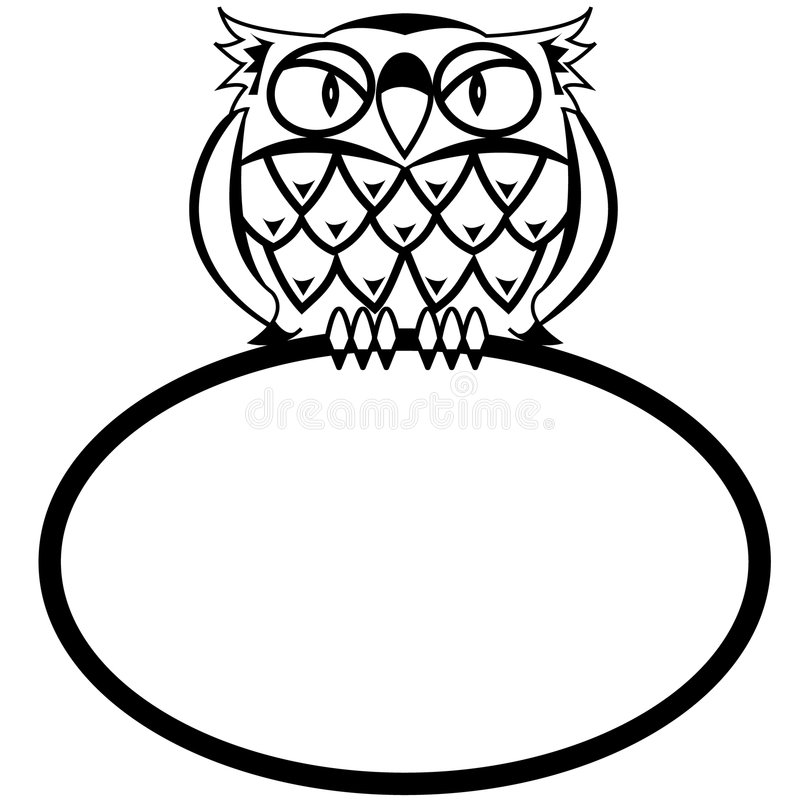 Download Eagle owl stock vector. Image of eagle, empty, animal - 5933153