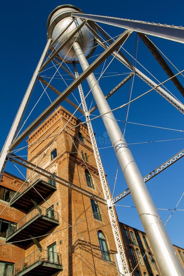 Eagle & Phenix Mills Water Tower royalty-vrije stock afbeelding