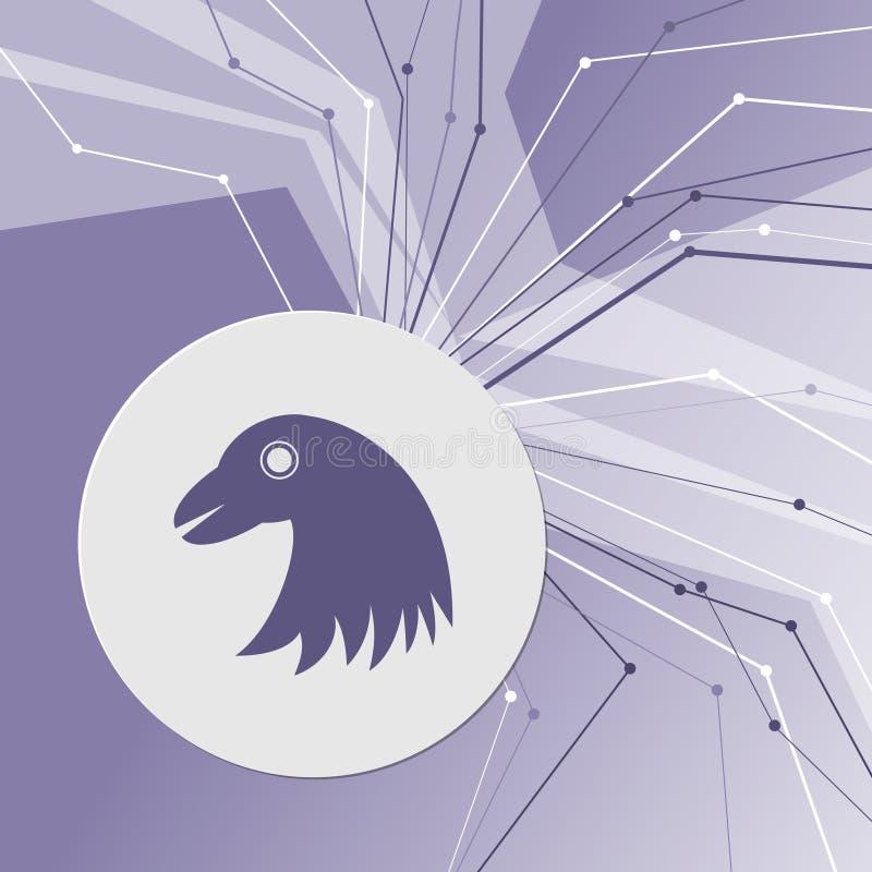 Eagle-pictogram op purpere abstracte moderne achtergrond De lijnen in alle richtingen Met ruimte voor uw reclame royalty-vrije illustratie