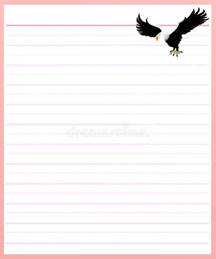 Download Eagle On Pink Color Lined Paper Stock Illustration   Illustration  Of Cartoon, Hand: For Color Lined Paper