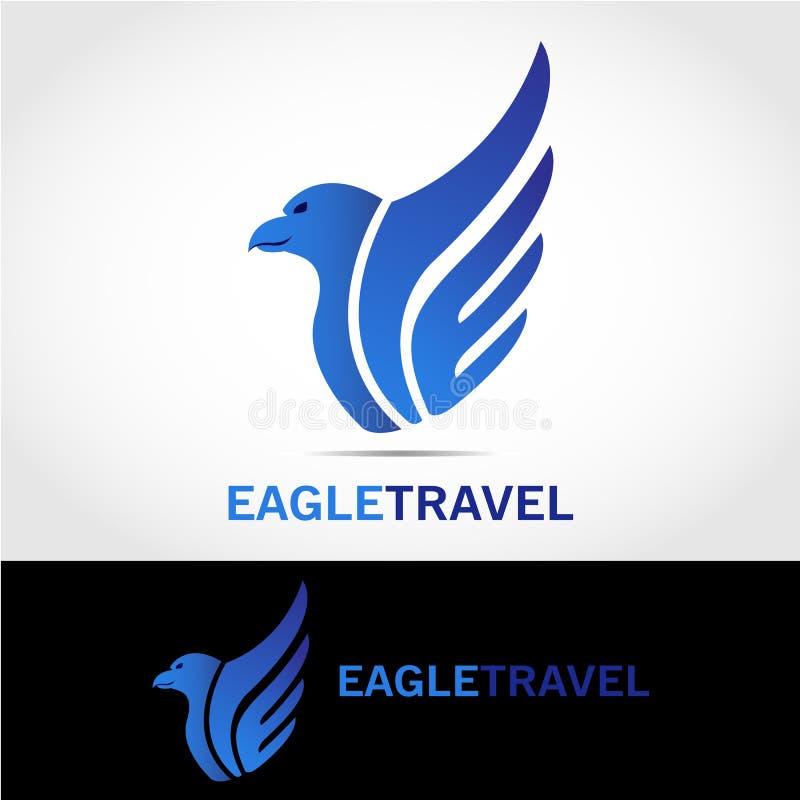 Eagle podróży logo ilustracja wektor
