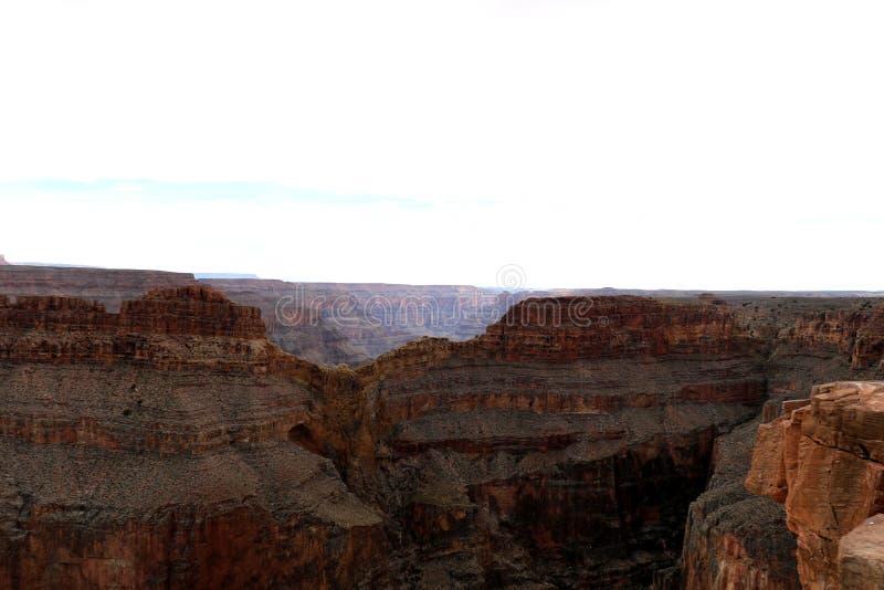 Eagle Point in Grand Canyon, dat door de Rivier van Colorado in Arizona, Verenigde Staten wordt gesneden stock foto's