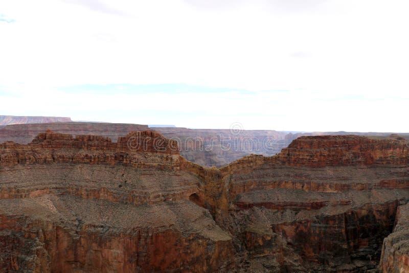 Eagle Point in Grand Canyon, dat door de Rivier van Colorado in Arizona, Verenigde Staten wordt gesneden stock foto