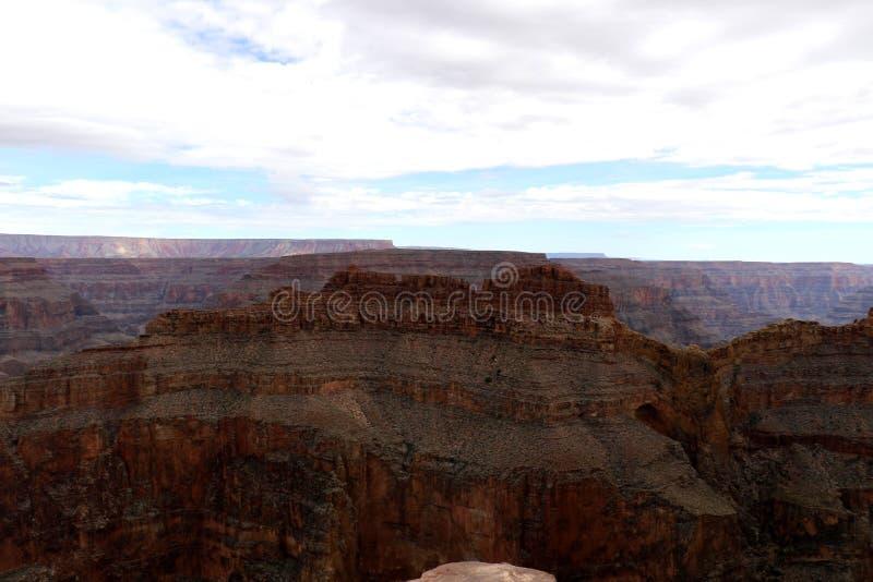 Eagle Point in Grand Canyon, dat door de Rivier van Colorado in Arizona, Verenigde Staten wordt gesneden stock afbeelding
