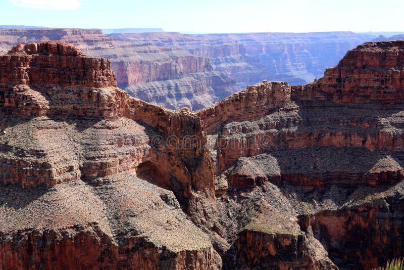 Eagle Point in Grand Canyon, door de Rivier van Colorado in Arizona, Verenigde Staten wordt gesneden die stock afbeelding