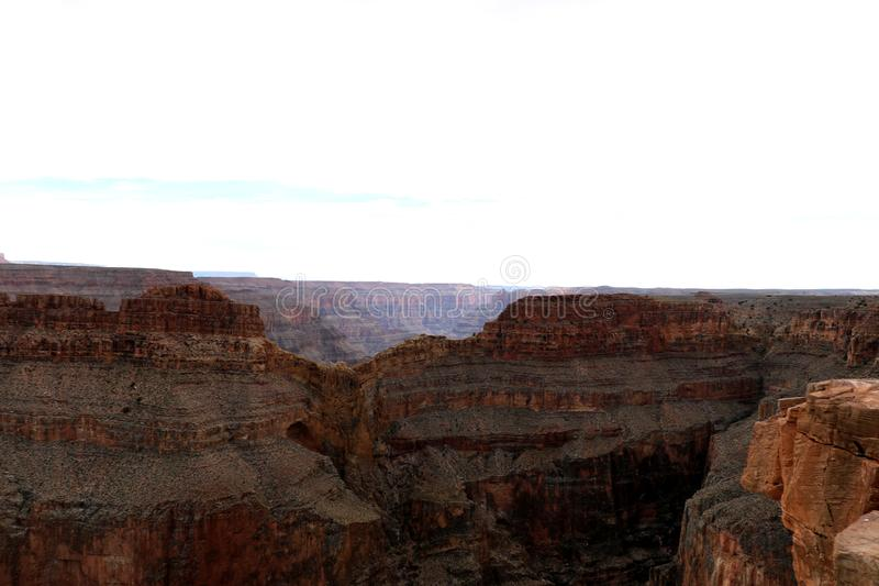 Eagle Point a Grand Canyon, scolpito dal fiume Colorado in Arizona, gli Stati Uniti fotografie stock