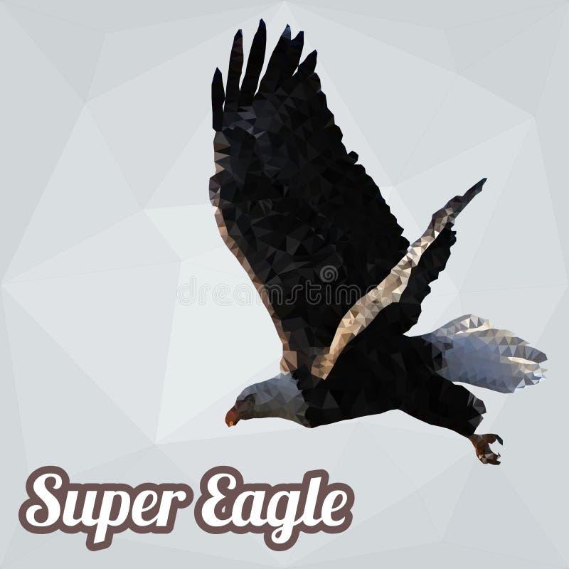 Eagle Polygon Vetora ilustração royalty free