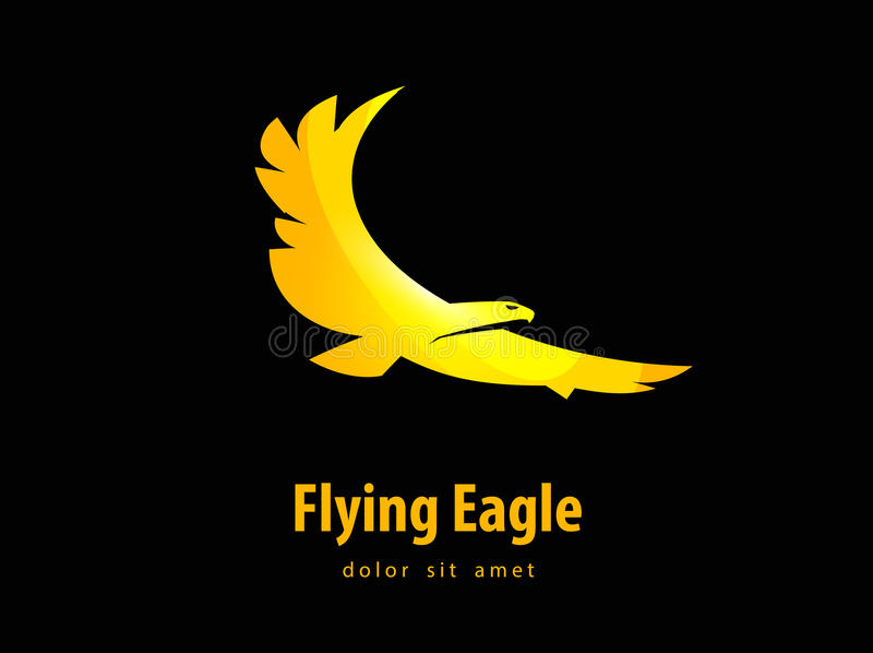 Eagle projekta wektorowy szablon ptasia lub zwierzęca ikona royalty ilustracja