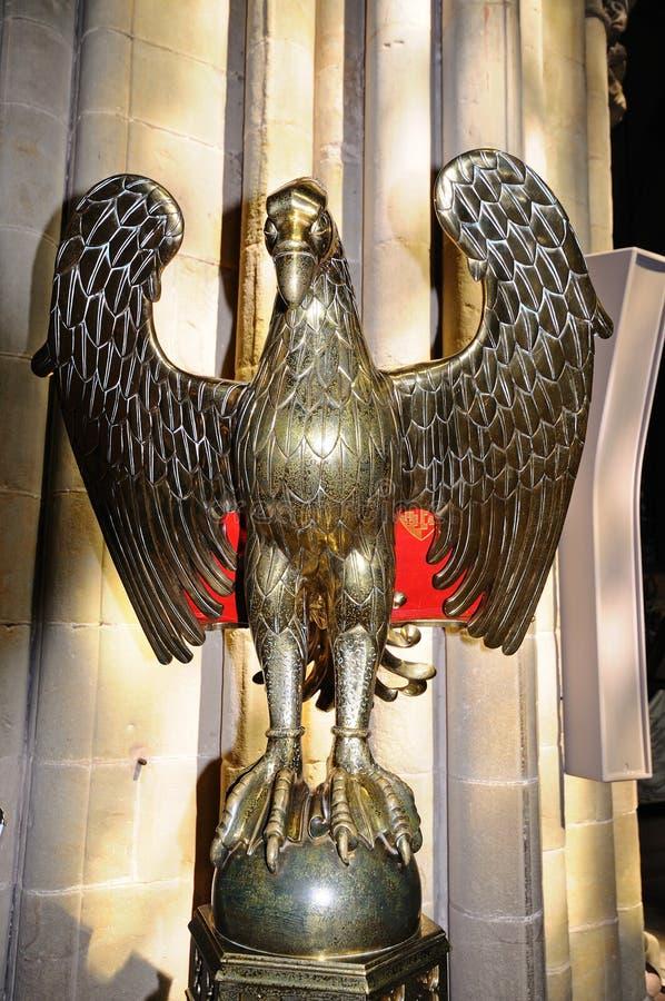 Eagle pulpit, Lichfield katedra, UK zdjęcie royalty free