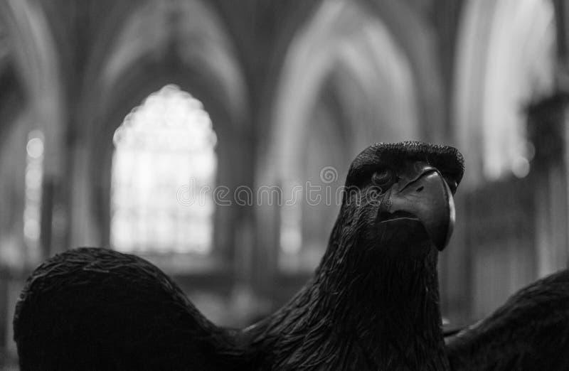 Eagle pulpit w studni katedrze BW obraz stock