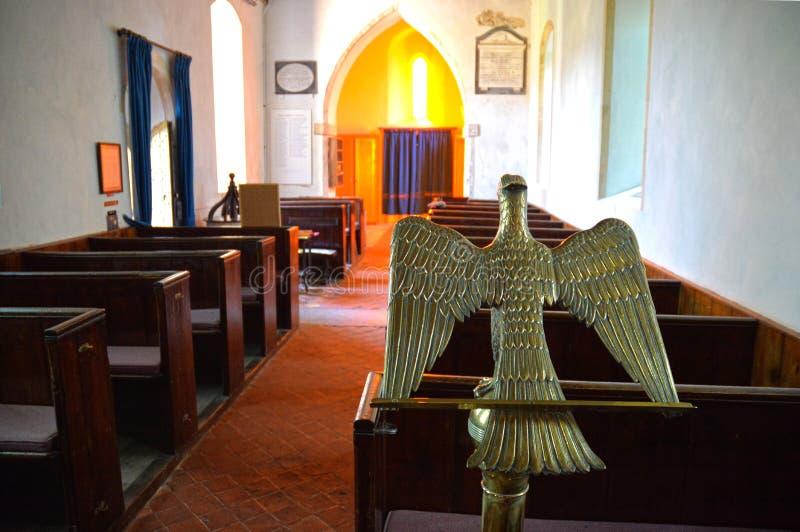 Eagle pulpit wn?trze ko?cio?a zdjęcie royalty free