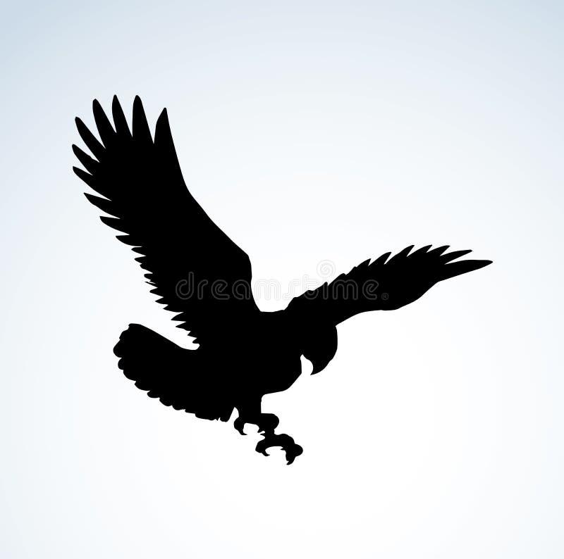 Eagle Retrait de vecteur illustration libre de droits