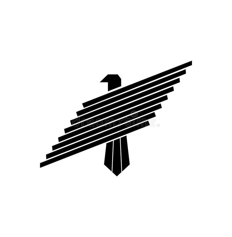 Eagle river av logo royaltyfri illustrationer