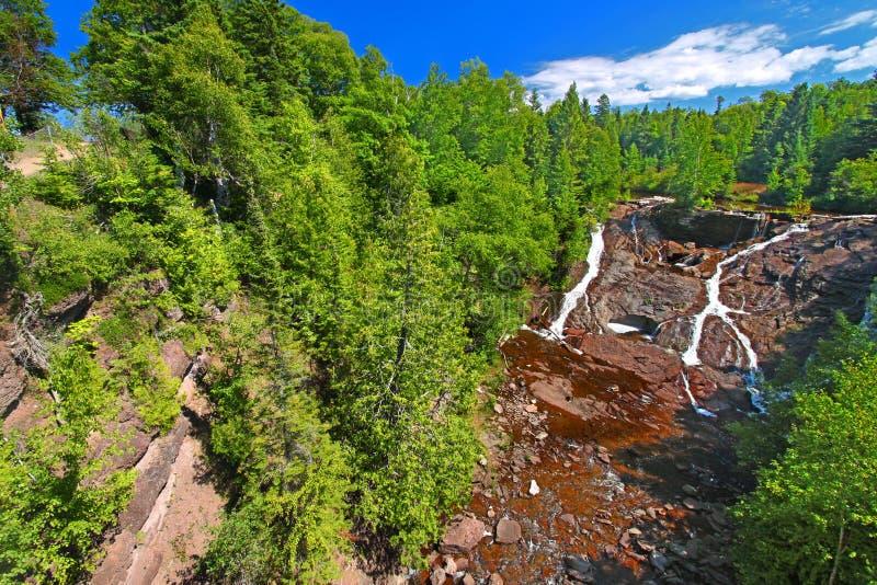 Eagle River Falls Keweenaw imagen de archivo
