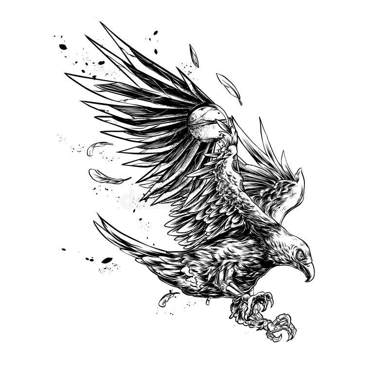 Eagle robótico ilustração royalty free