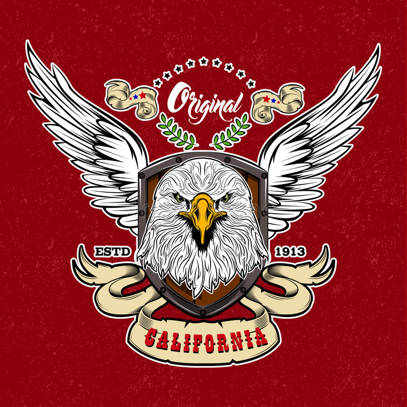 Eagle rocznika stylu logo ilustracji