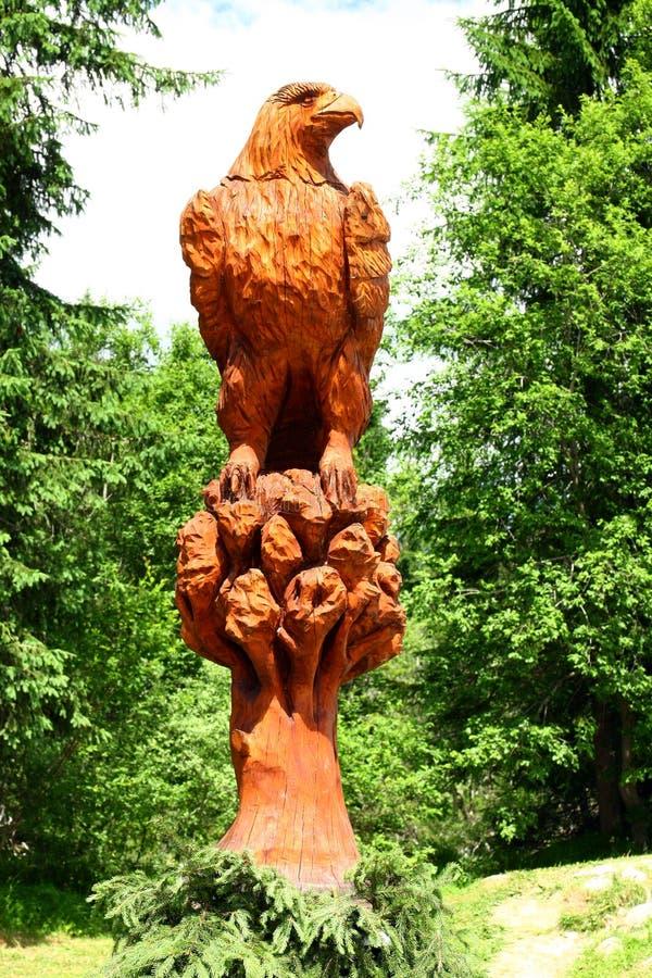 Eagle-rotsgravure stock foto