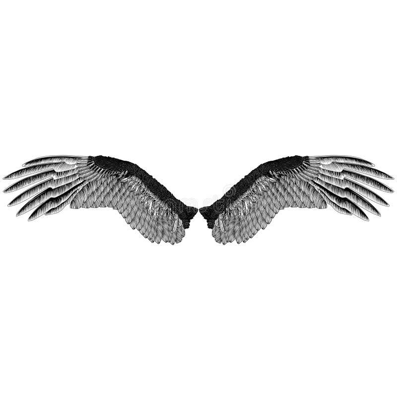Eagle-` s beflügelt einfarbiges Muster lizenzfreies stockbild