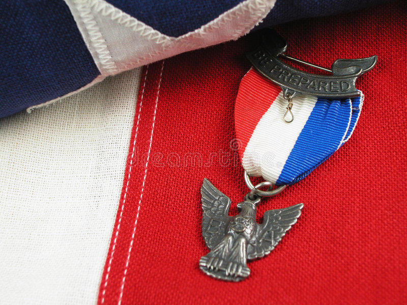Eagle Scout Award-Right royalty free stock image