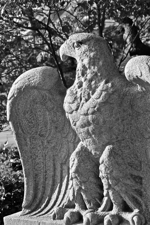 Download Eagle sculptured in stone stock photo. Image of stone - 21418920