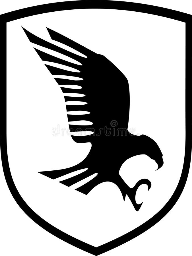 Download Eagle on shield stock vector. Image of determination, eagle - 9486436