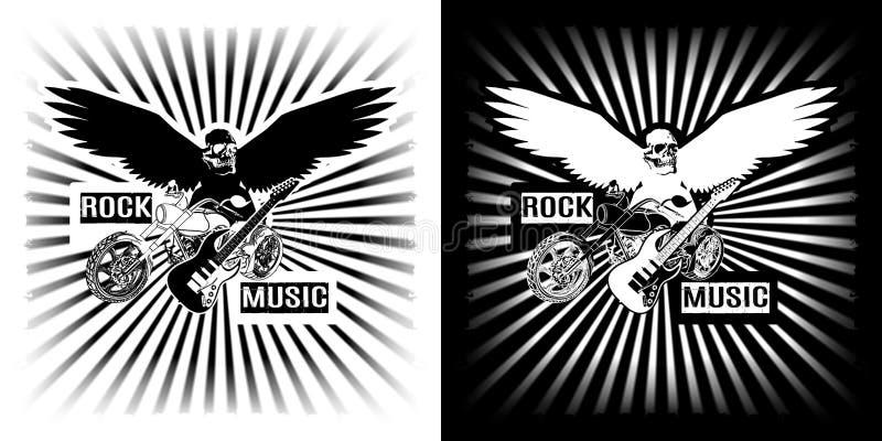Eagle siekacza motocykl i elektryczny czarny biały clipart royalty ilustracja