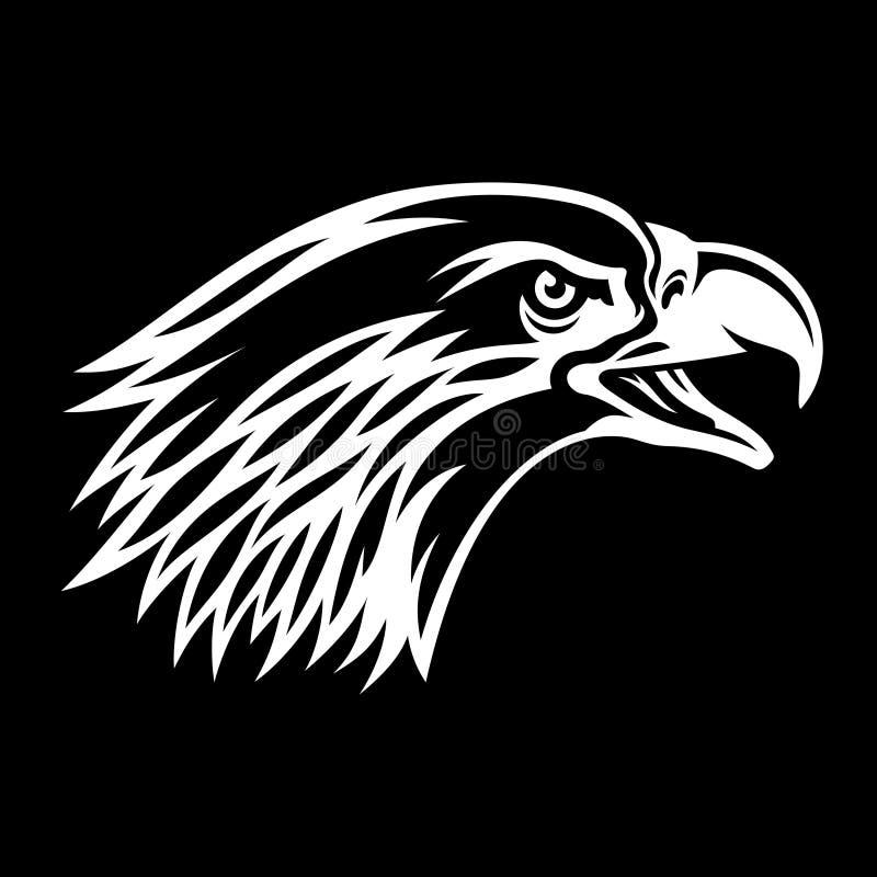 Eagle-silhouet 008 royalty-vrije illustratie