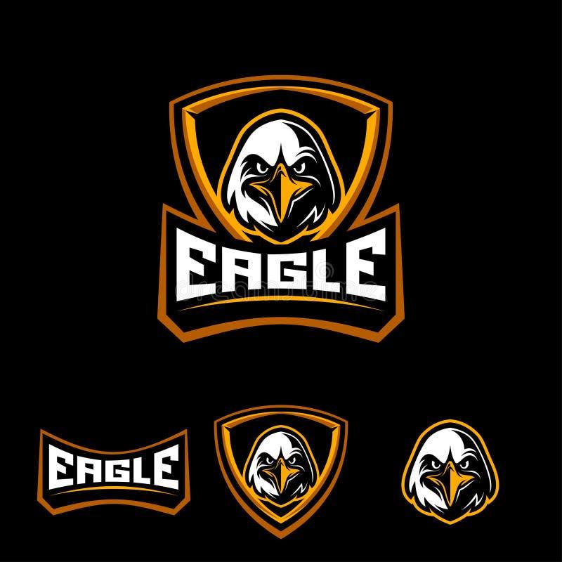 Eagle-sportembleem royalty-vrije stock afbeelding