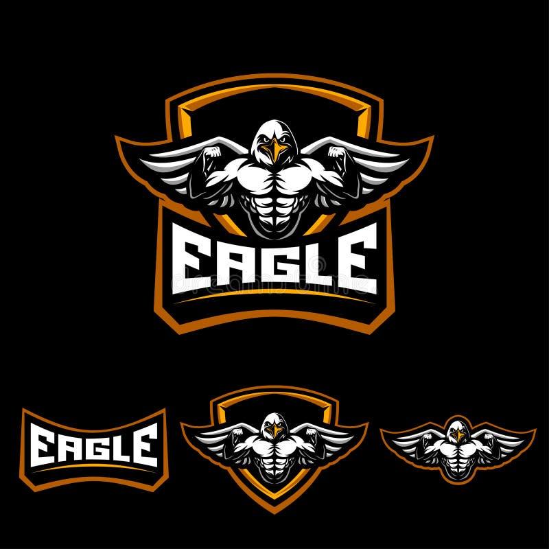 Eagle-sportembleem royalty-vrije stock foto's