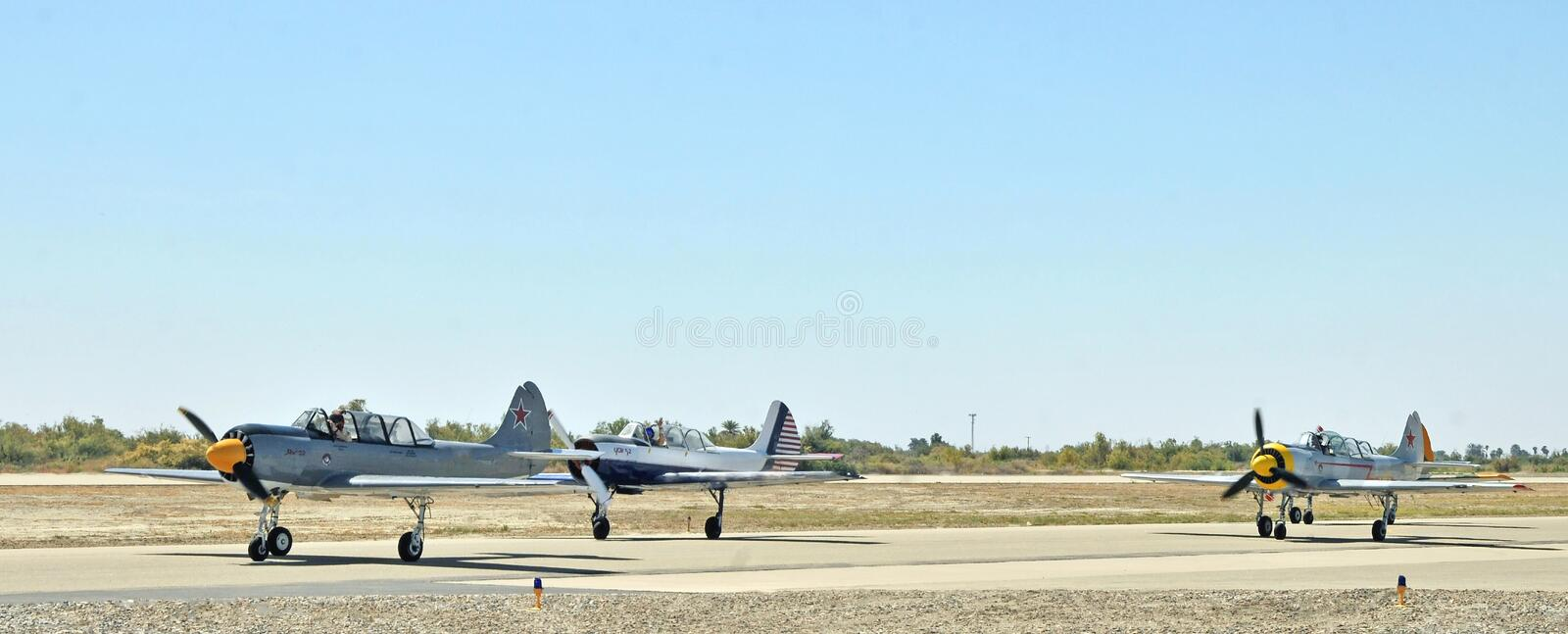 Eagle Squardon Taxiing To Hardstand rouge photos libres de droits